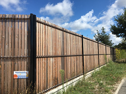 Installation de cl tures capbreton dax bayonne et hossegor landes - Grille de cloture rigide ...